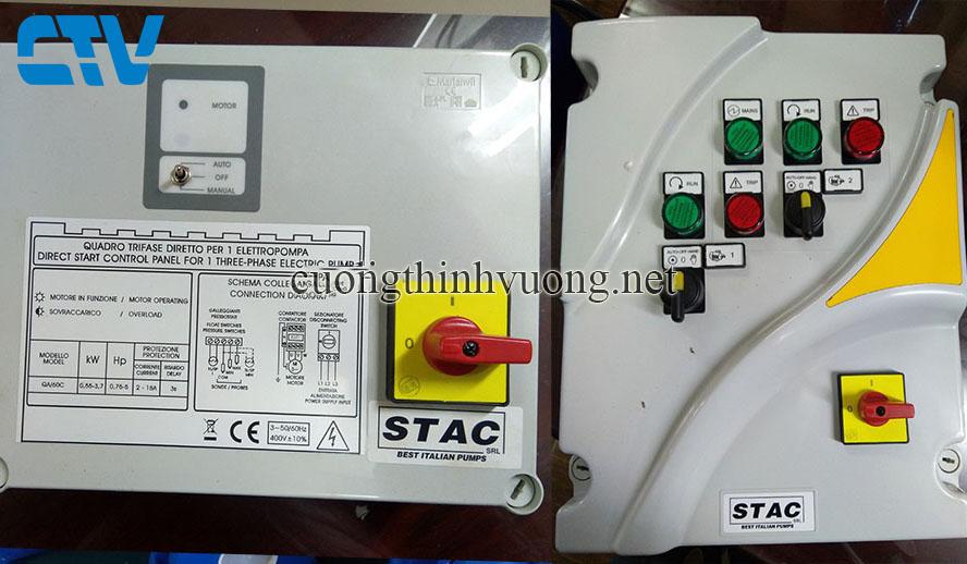 Tủ điện Stac Italy, Tủ điện bảo vệ máy bơm hãng Stac